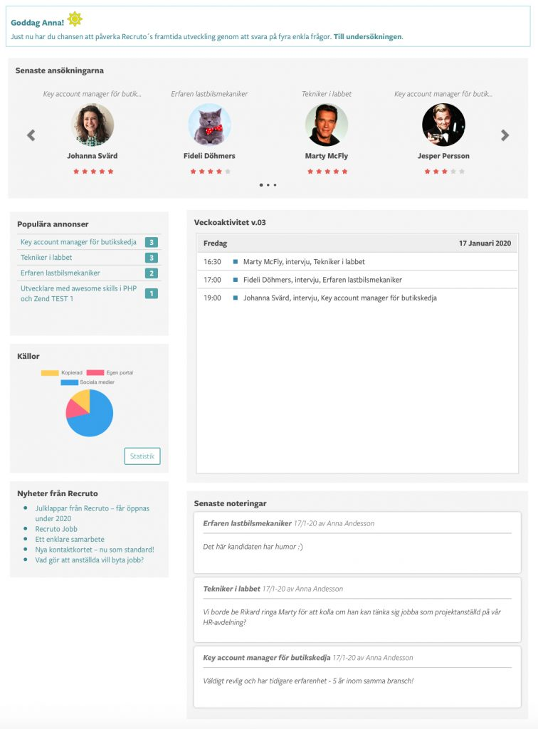 Recruto Dashboard -Recruitment Tool